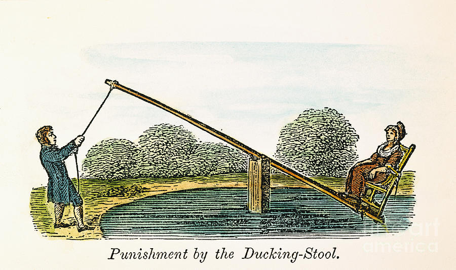 17th Century Photograph - Colonial Ducking Stool by Granger