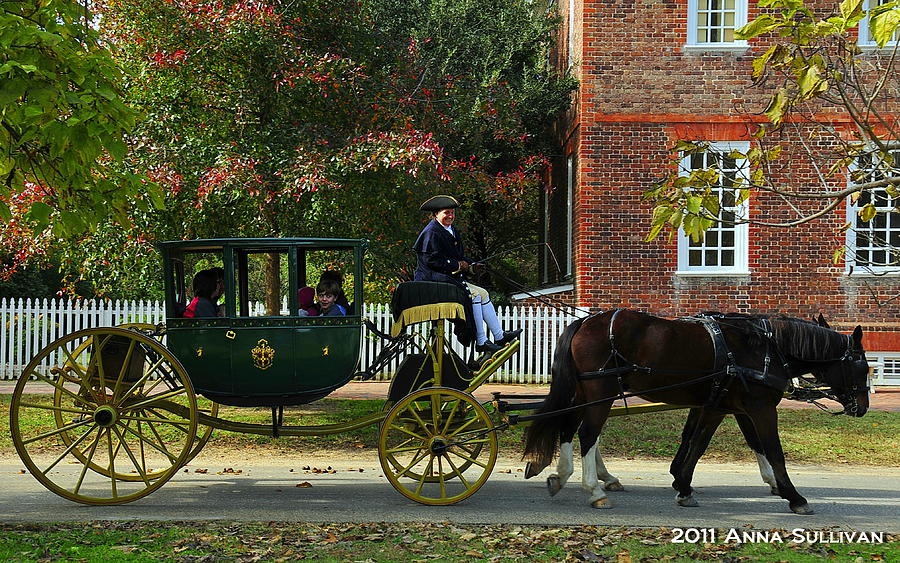 Carriage Photograph - Colonial Williamsburg Carriage by Anna Sullivan