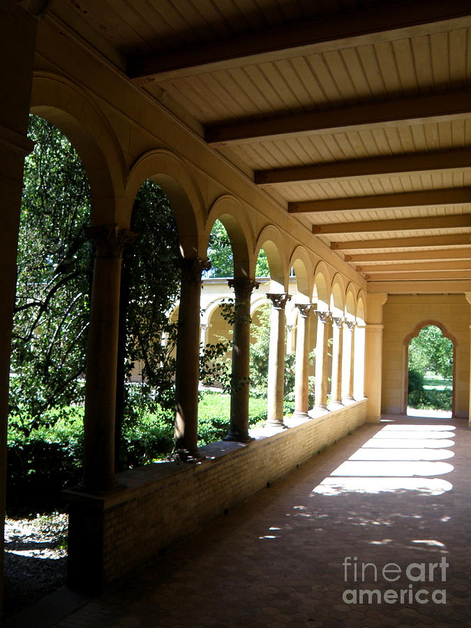 Architecture Photograph - Colonnade  2 by Tanya  Searcy