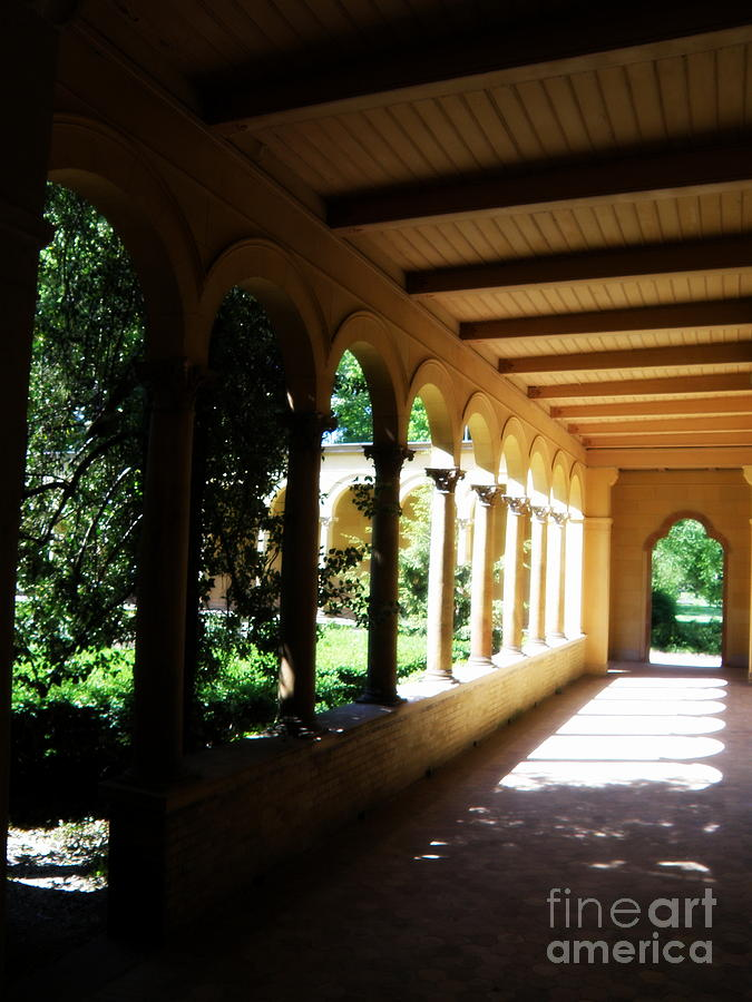 Architecture Photograph - Colonnade  3 by Tanya  Searcy