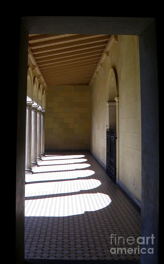 Architecture Photograph - Colonnade  4 by Tanya  Searcy
