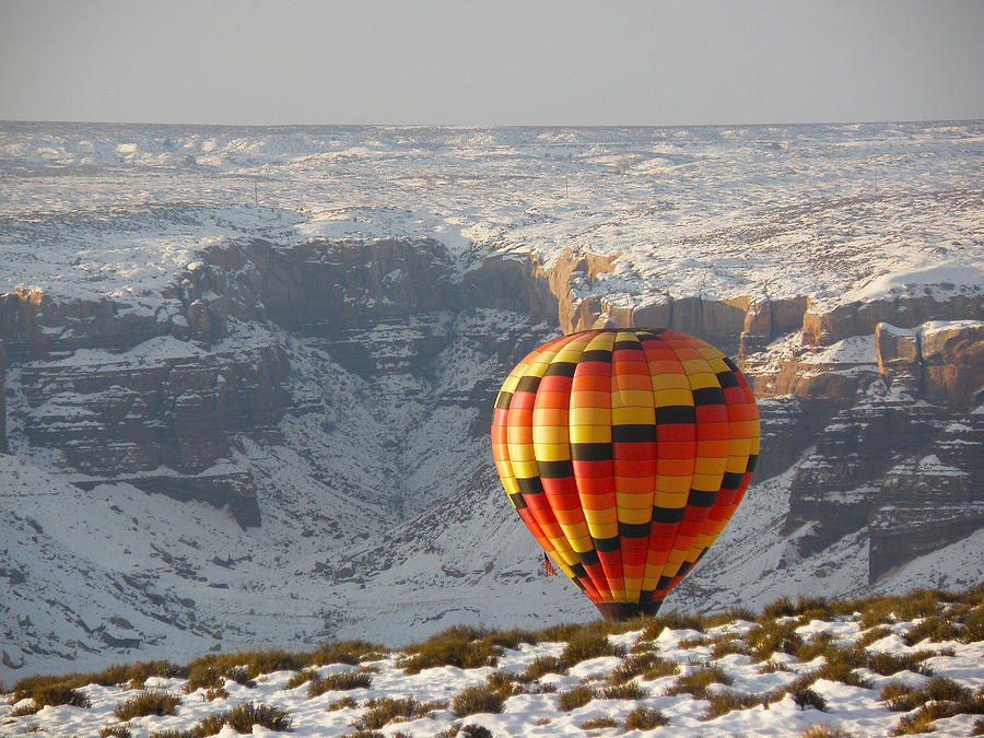 Balloons Photograph - Color Above The Canyon by FeVa  Fotos