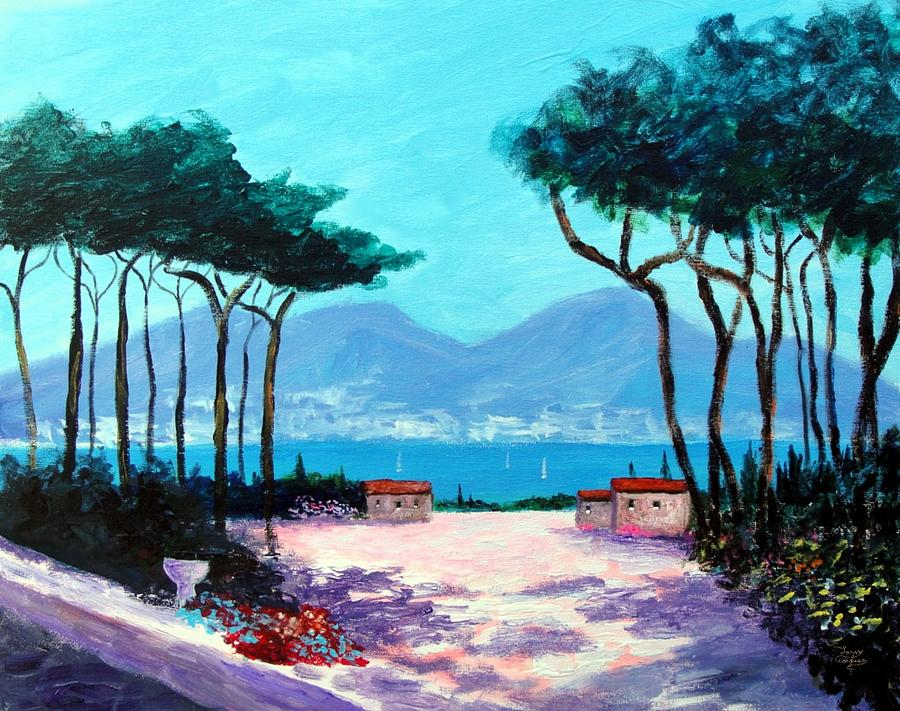 Atrani Italy Italy Mediterranean Art Tuscany Paintings Painting - Color And Light Of The Mediterranean by Larry Cirigliano