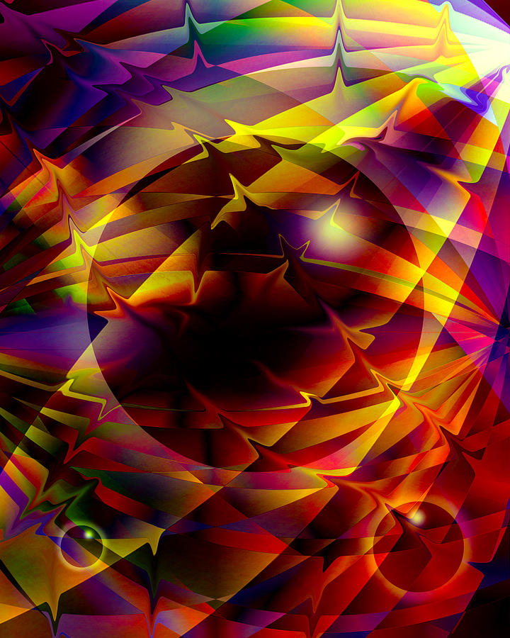 Abstract Digital Art - Color Design  by Anthony Caruso