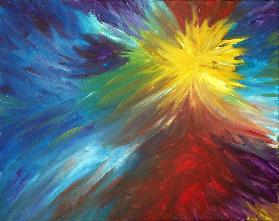 Color Explosion Painting By Lisa Stanley