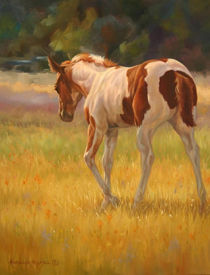 Equine Painting - Color Foal by Kathleen  Hill