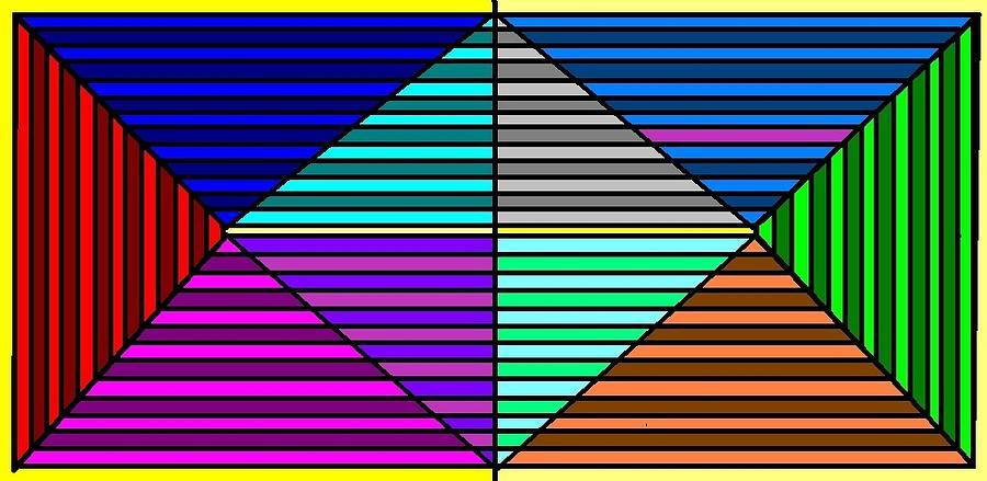 Lines Digital Art - Color Lines by Rachael McIntosh