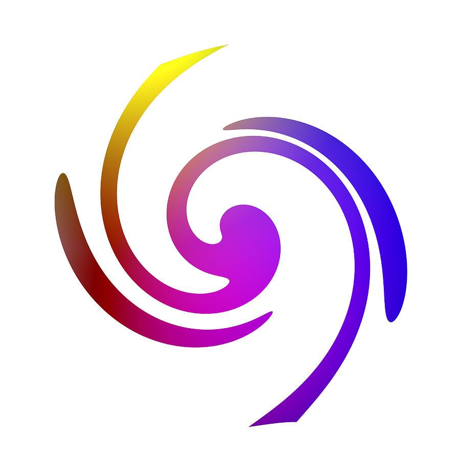 Color Spiral Digital Art by Steve K