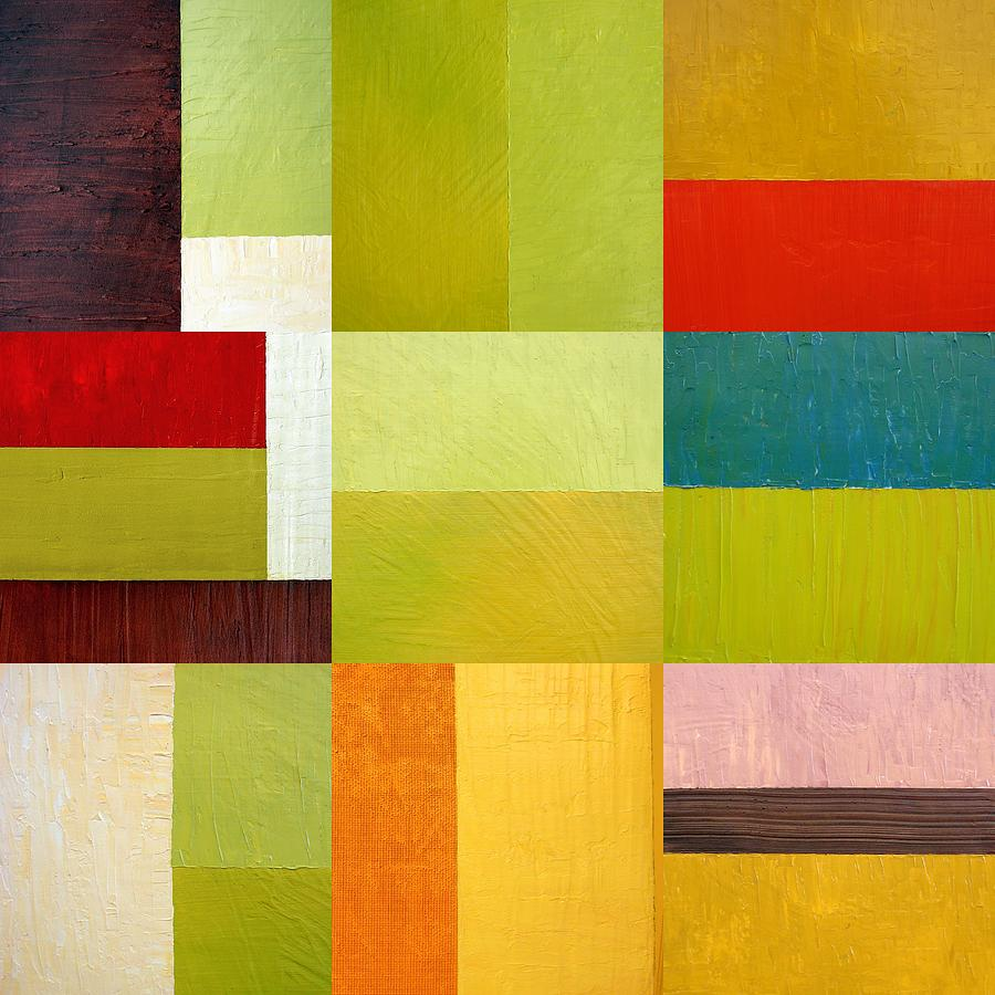 Abstract Painting - Color Study Abstract 9.0 by Michelle Calkins