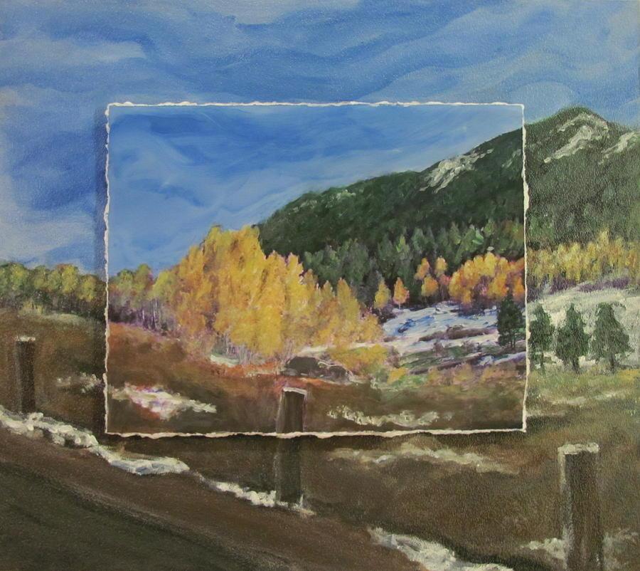 Colorado Mixed Media - Colorado Almost Winter by Anita Burgermeister
