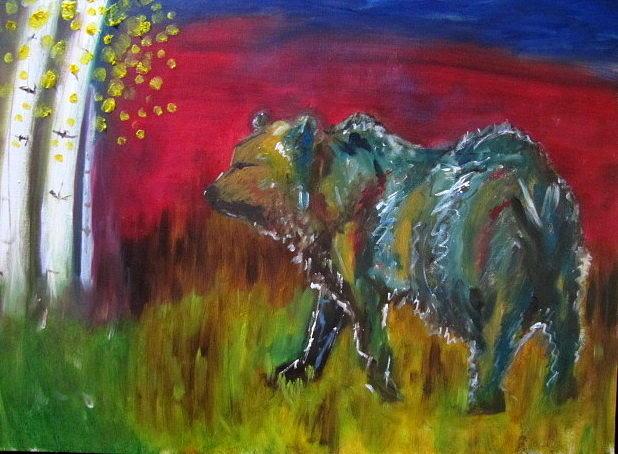 Bear Painting - Colorado bear by Jenell Richards