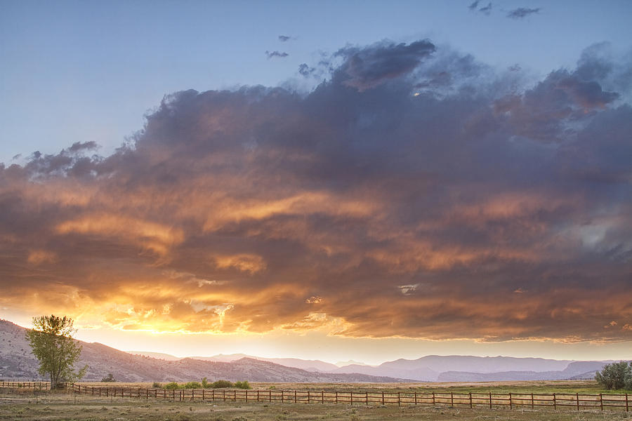 Sunset Photograph - Colorado Evening Light by James BO  Insogna