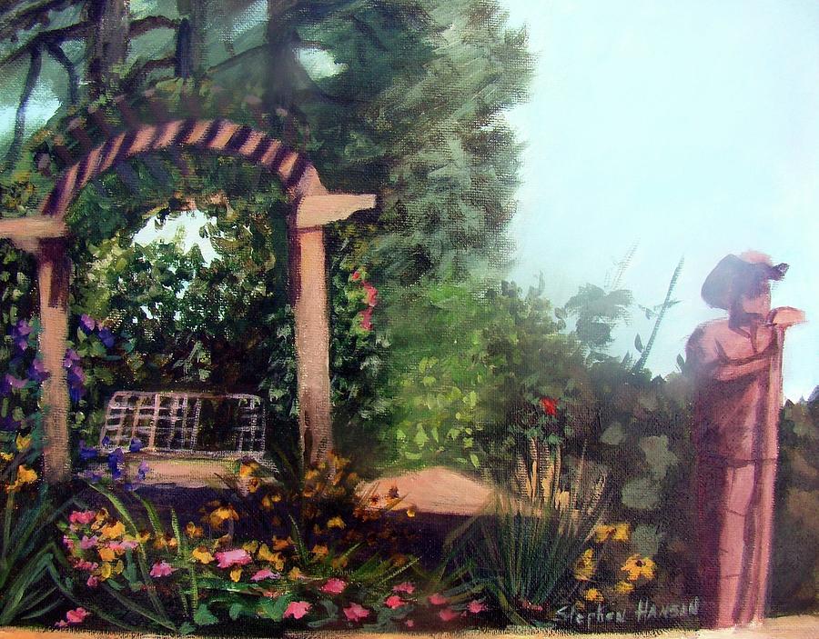 Plein Air Painting - Colorado Flower Garden 2 by Stephen  Hanson