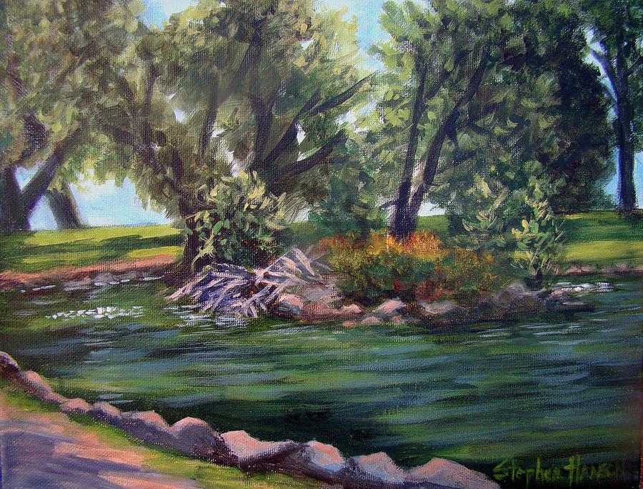 Plein Air Painting - Colorado Pond by Stephen  Hanson