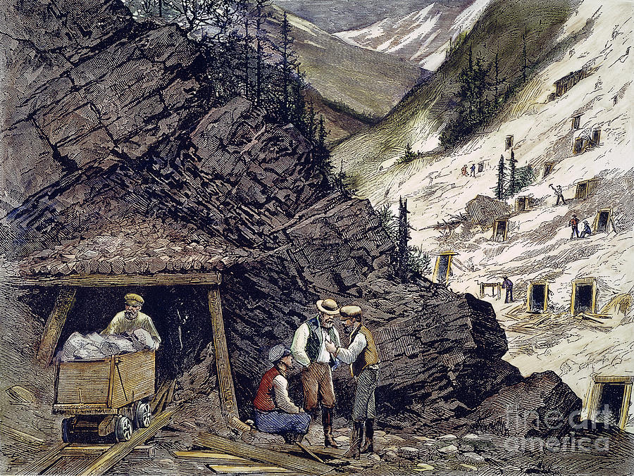 1874 Photograph - Colorado Silver Mines, 1874 by Granger