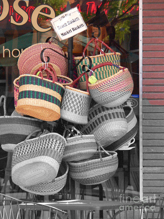 Coeur D'alene Idaho Photograph - Colored Baskets by David Bearden