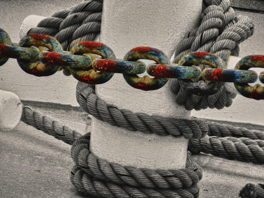 Chain Photograph - Colored Chain by Kelly Reber