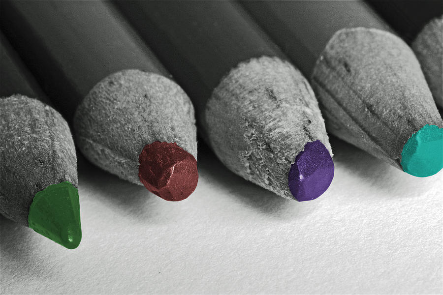 Colored Pencils Photograph - Colored Pencils by Bill Owen