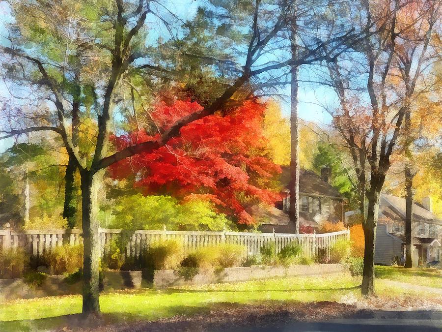 Autumn Photograph - Colorful Autumn Street by Susan Savad