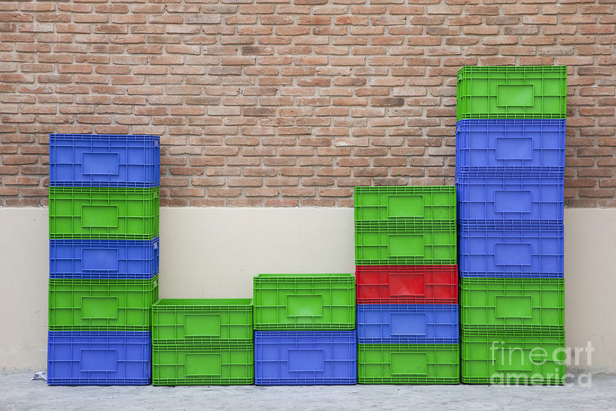 Beer Photograph - Colorful Beer Crates by Chavalit Kamolthamanon