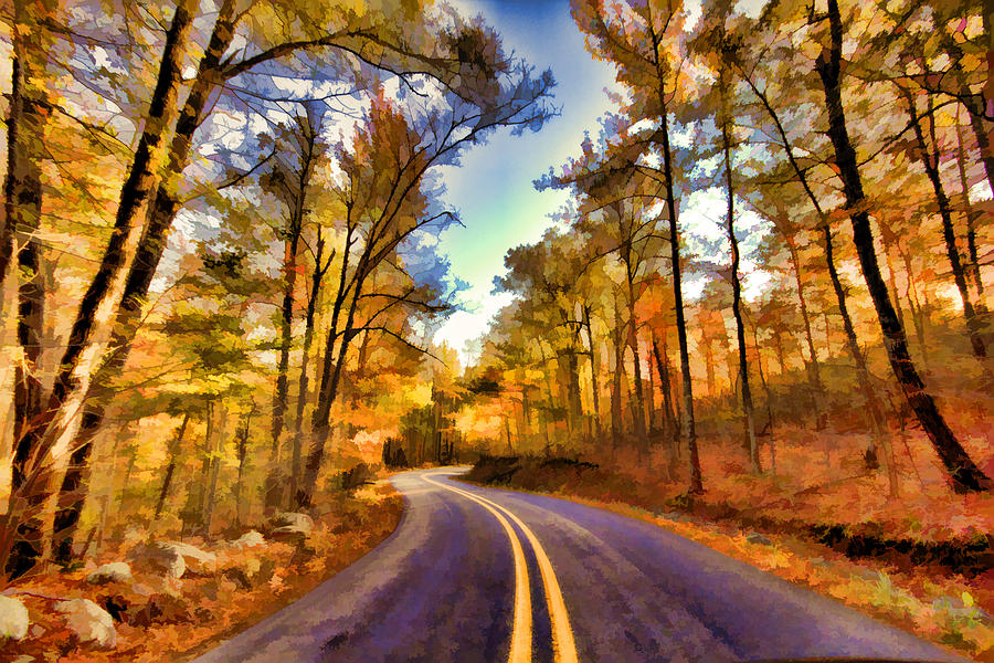 Road Photograph - Colorful Bend by Douglas Barnard