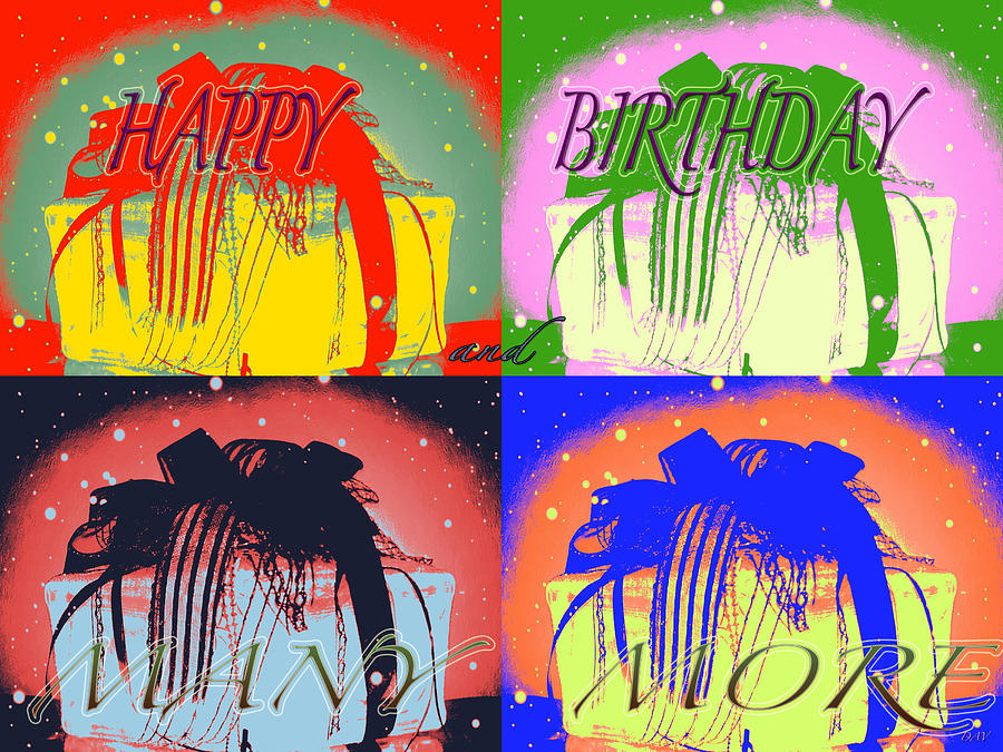 Colorful Birthday Card Mixed Media By Debra Vatalaro