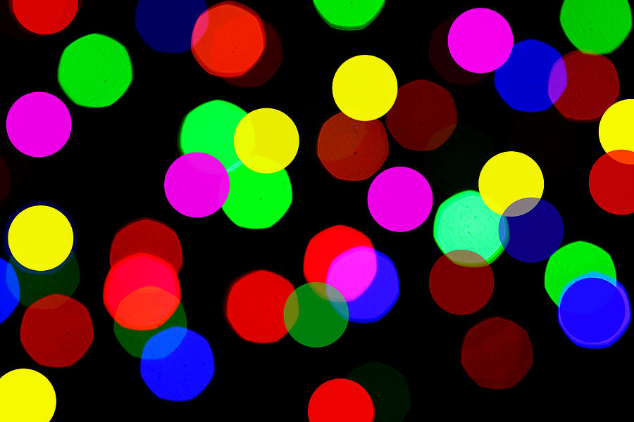Bokceh Photograph - Colorful Bokeh by Paul Ge