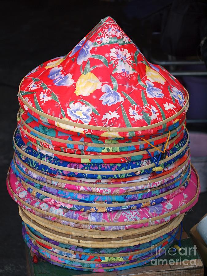 Hat Photograph - Colorful Chinese Farmer Hats by Yali Shi