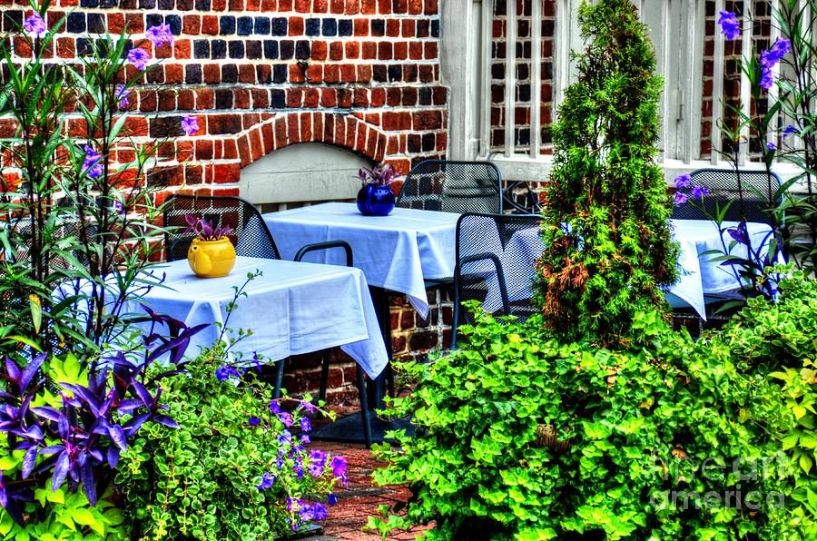 Dining Photograph - Colorful Dining by Debbi Granruth