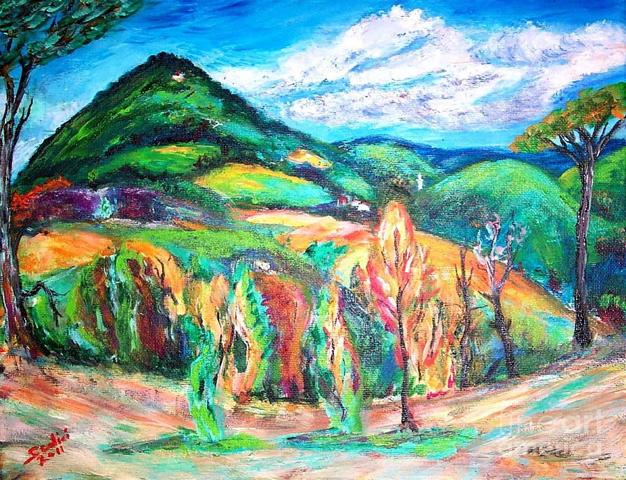 Lanscape Painting - Colorful Europe  by Mary Sedici