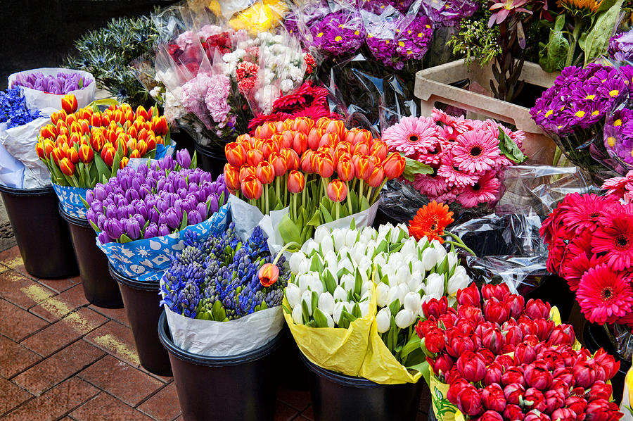 Colorful Flower Market Photograph By Cheryl Davis