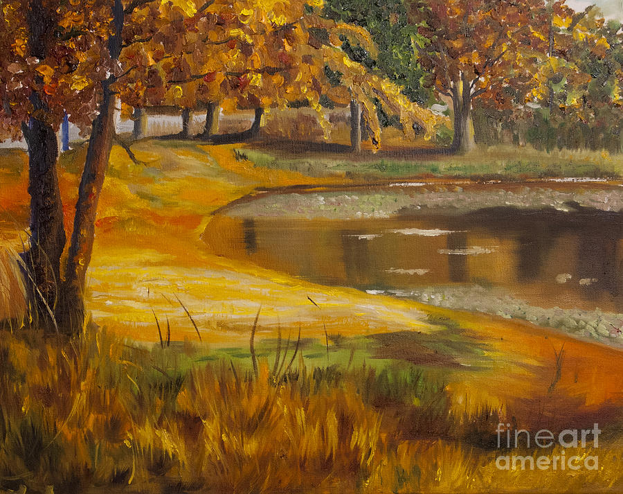 Autumn Painting - Colorful Glory by Art Hill Studios