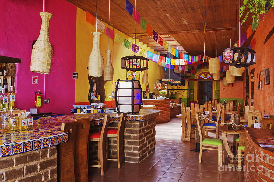 Colorful Interior Of Restaurant Photograph By Jeremy Woodhouse