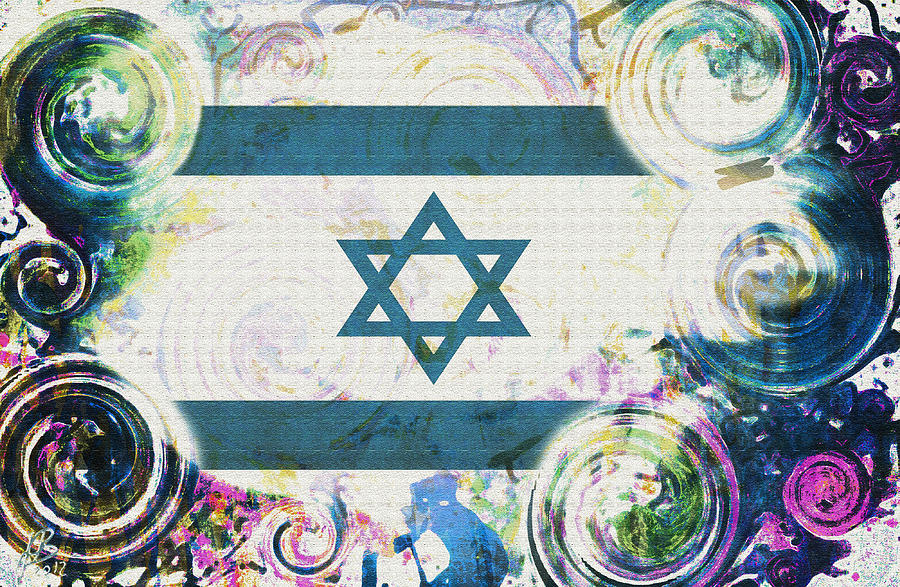Abstract Digital Art - Colorful Land Of Israel by Jenn Bodro