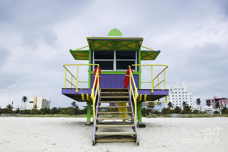 Architecture Photograph - Colorful Lifeguard Station by Jeremy Woodhouse