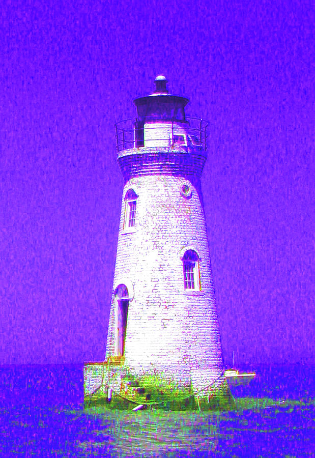 Lighthouse Photograph - Colorful Lighthouse by Juliana  Blessington