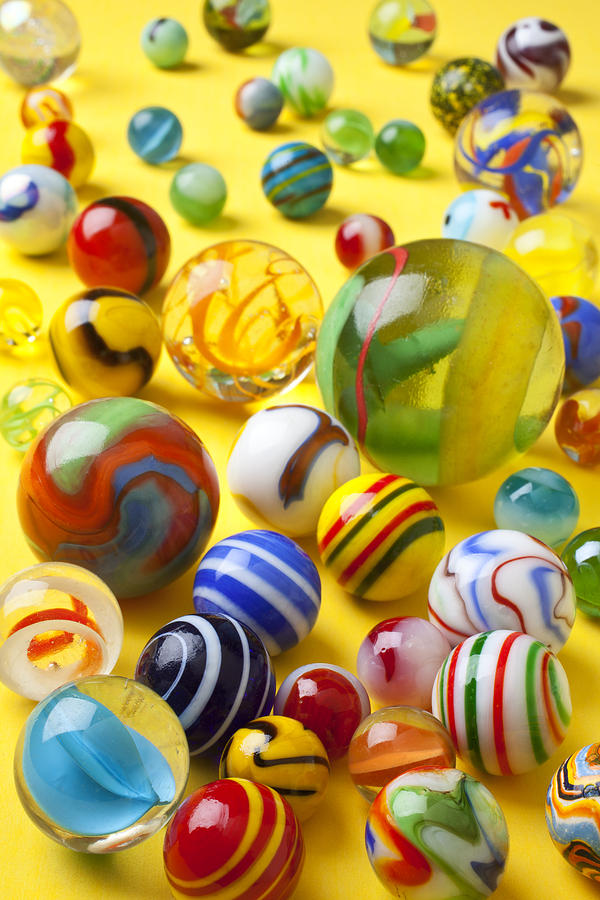 Marbles Photograph - Colorful Marbles by Garry Gay