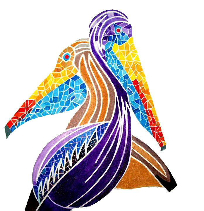 colorful miami birds painting by victor madero