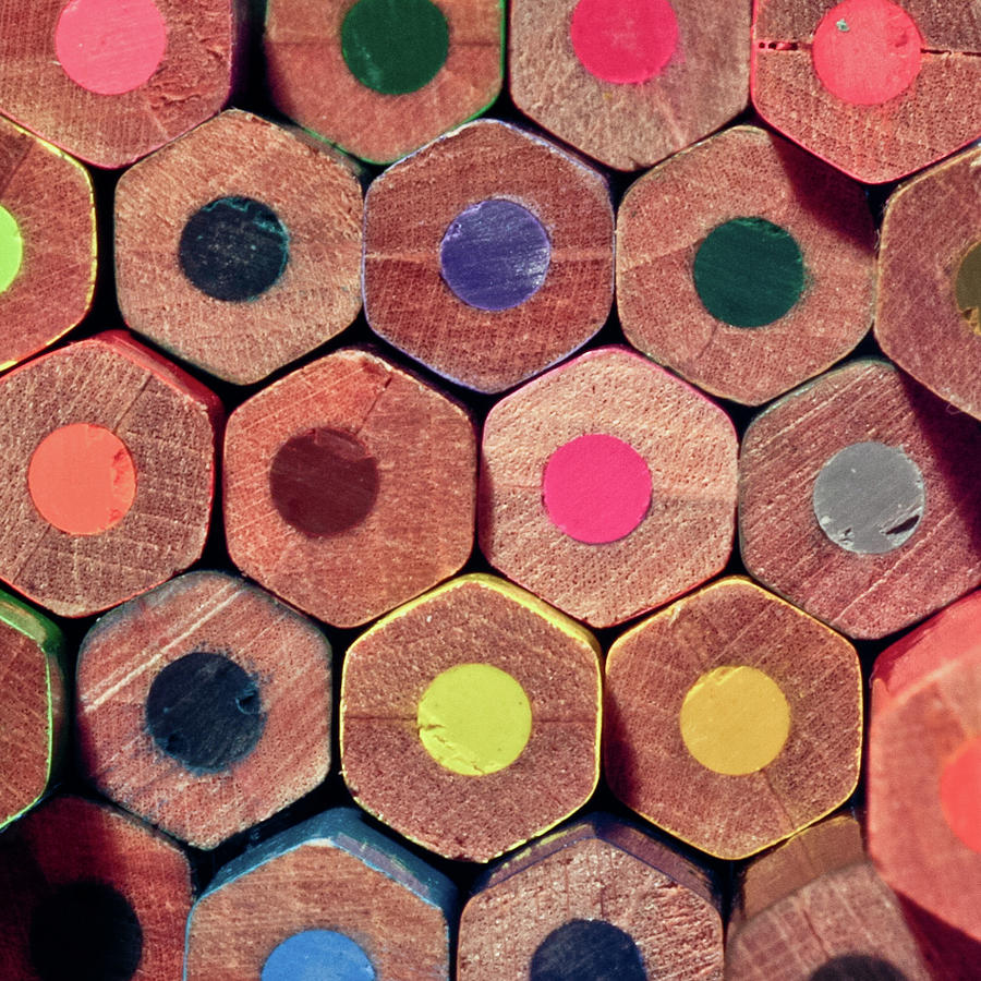 Square Photograph - Colorful Painting Pencils by Erdem Civelek visual