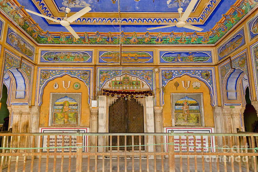 Architectural Detail Photograph - Colorful Palace Interior by Inti St. Clair