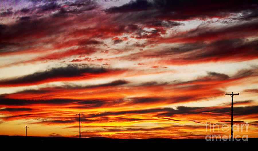 Sunrise Photograph - Colorful Rural Country Sunrise by James BO  Insogna