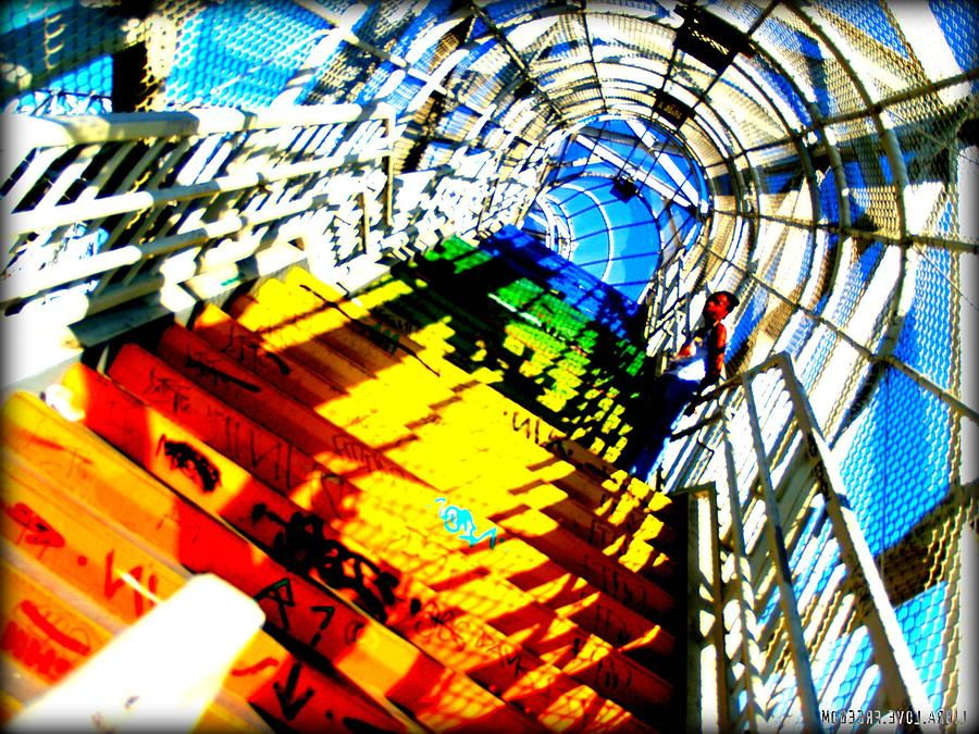 Stairwell Photograph - Colorful Steps by D Wash
