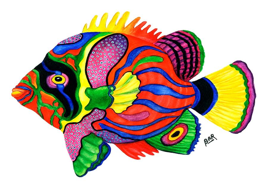 colorful painting colorful tropical fish by barbara ann robertson