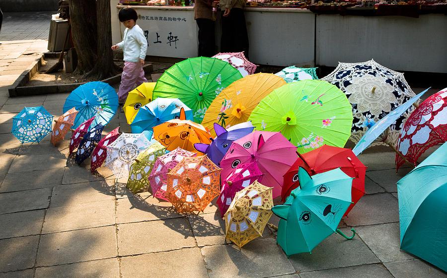 Umbrellas Photograph - Colorful Umbrellas by John Wong
