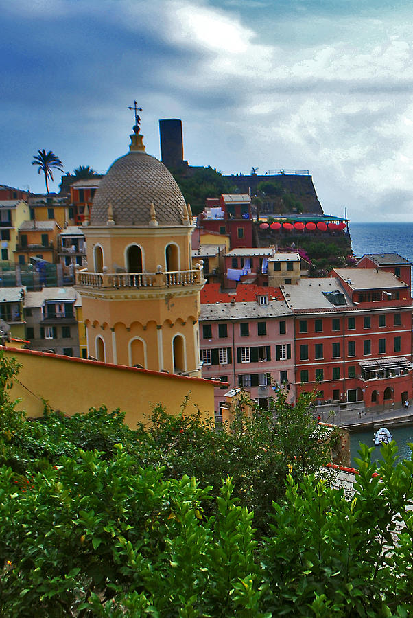 Italy Photograph - Colorful Village Of Vernazza Located In Cinque Terre Liguria Italy by Jeff Rose
