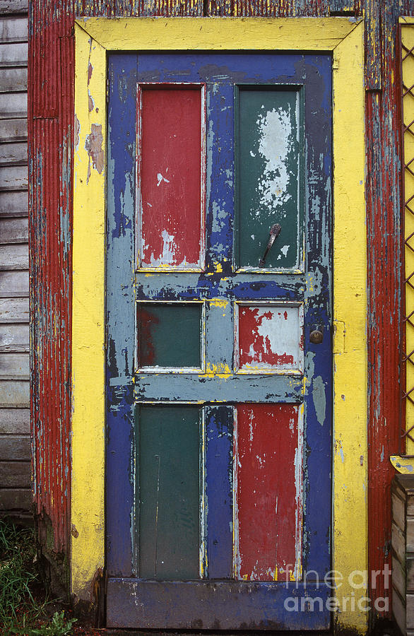 Abandoned Photograph - Colorful Wooden Door by Will & Deni McIntyre