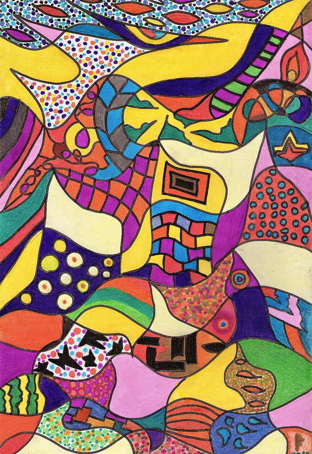 Colors 46. Drawing by Peter Fitoram