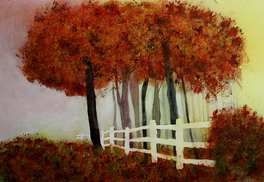 Trees Painting - Colors Of Autumn by Mary Gaines
