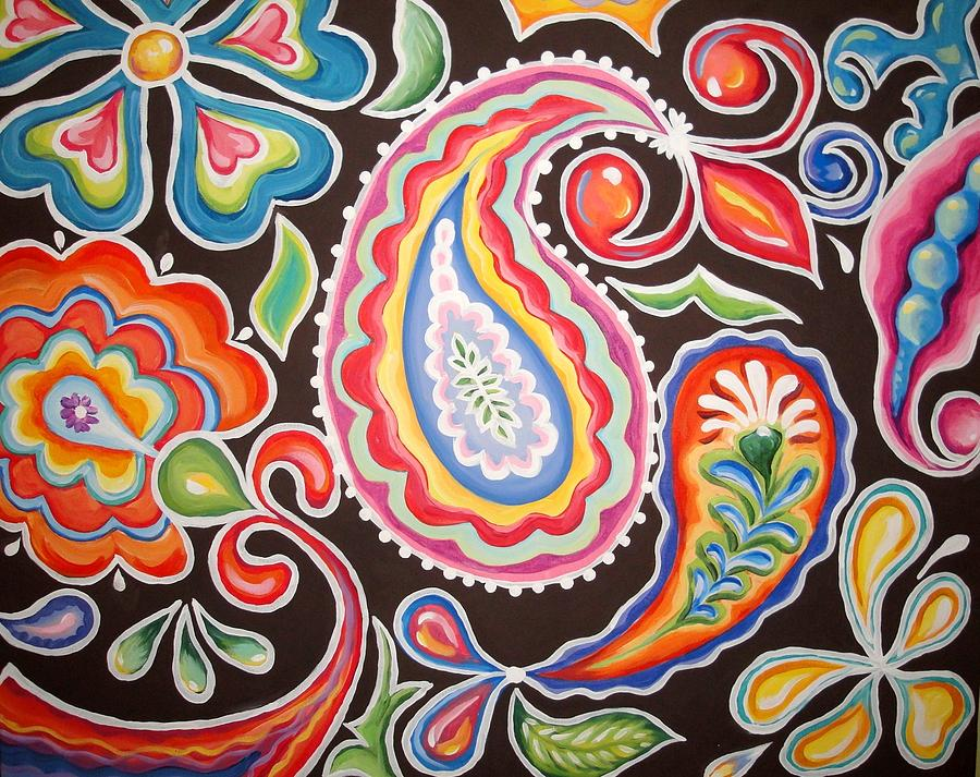 Funky Painting - Colors Of Happiness by Sandra Lett
