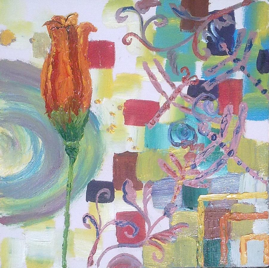 Flower Painting - Colors by Rumesa Saddozai
